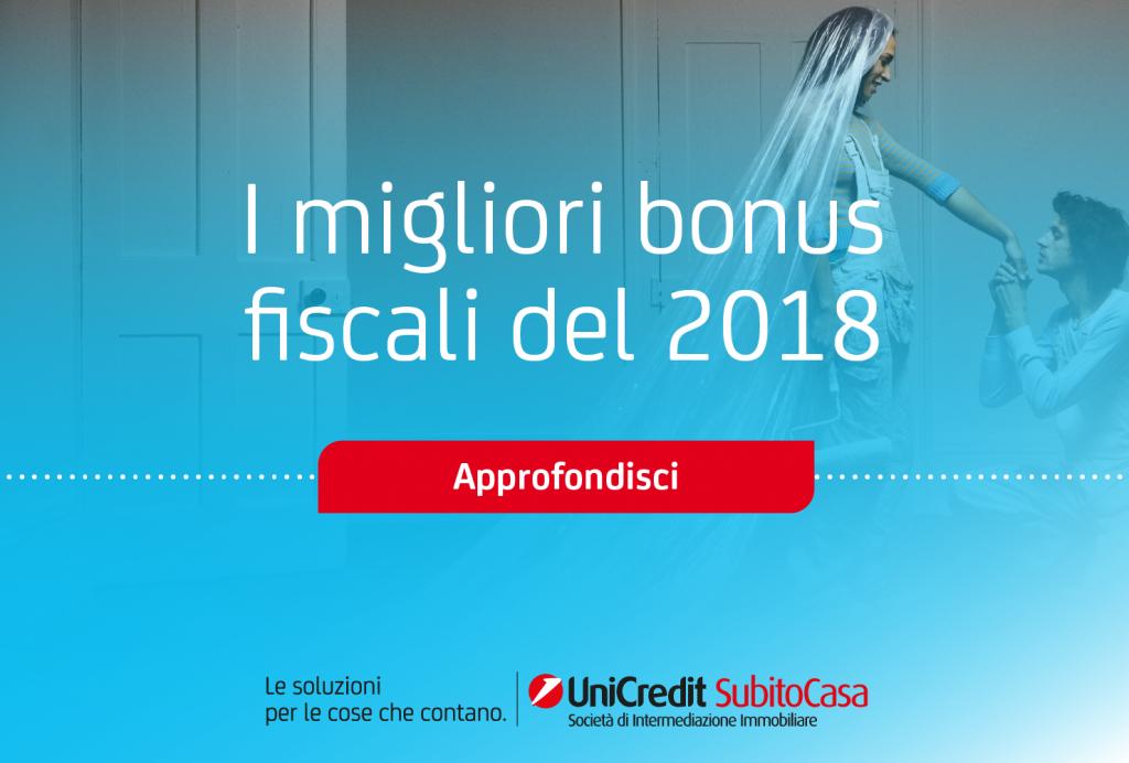 Bonus Casa 2018 UniCredit SubitoCasa